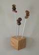 Seedling coat hanger with queen anne cherry base