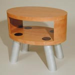 Satellite end table